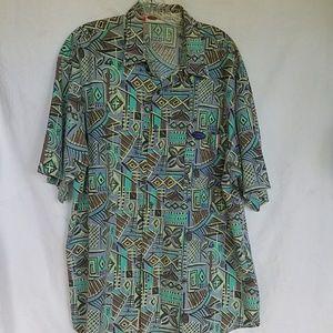 Quicksilver vintage aloha shirt, beach vibe, M